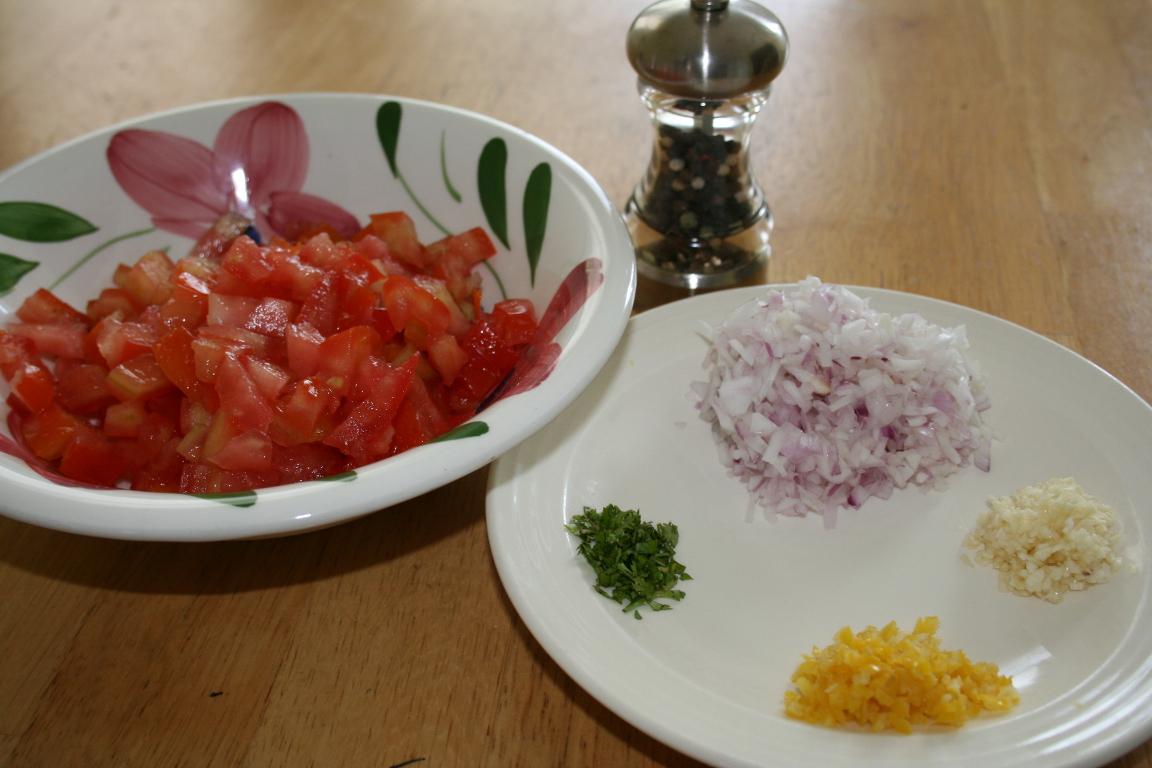 Salsa Ingredients - Prepared
